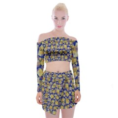 Zappwaits Off Shoulder Top With Mini Skirt Set
