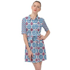 Doriskos Belted Shirt Dress by deformigo