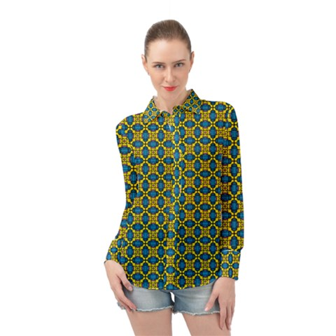 Gordium Long Sleeve Chiffon Shirt by deformigo