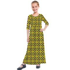 Bertha Kids  Quarter Sleeve Maxi Dress by deformigo
