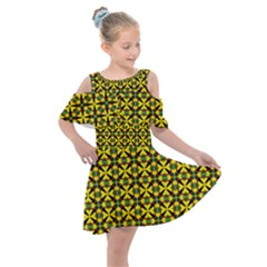Bertha Kids  Shoulder Cutout Chiffon Dress by deformigo