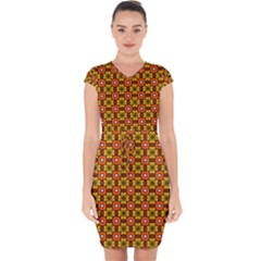 Petra Capsleeve Drawstring Dress  by deformigo