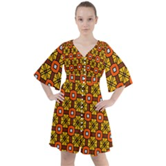 Petra Boho Button Up Dress