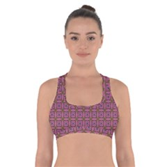Wisteria Cross Back Sports Bra by deformigo