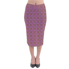 Wisteria Velvet Midi Pencil Skirt by deformigo