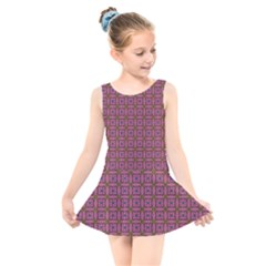 Wisteria Kids  Skater Dress Swimsuit by deformigo