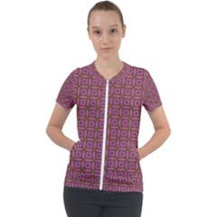 Wisteria Short Sleeve Zip Up Jacket by deformigo