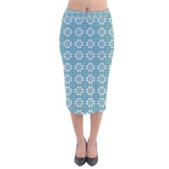 Ningaloo Velvet Midi Pencil Skirt by deformigo