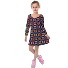 Whitika Kids  Long Sleeve Velvet Dress by deformigo