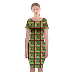 Satafi Classic Short Sleeve Midi Dress by deformigo
