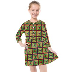 Satafi Kids  Quarter Sleeve Shirt Dress by deformigo