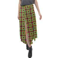 Satafi Velour Split Maxi Skirt by deformigo