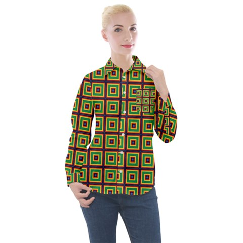 Satafi Women s Long Sleeve Pocket Shirt by deformigo