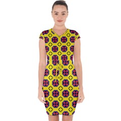 Memphis Capsleeve Drawstring Dress  by deformigo