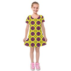 Memphis Kids  Short Sleeve Velvet Dress by deformigo
