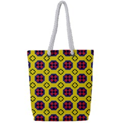 Memphis Full Print Rope Handle Tote (small) by deformigo