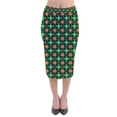 Imogene Velvet Midi Pencil Skirt by deformigo