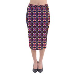 Irrigon Velvet Midi Pencil Skirt by deformigo
