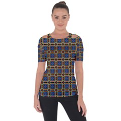 Crosslake Shoulder Cut Out Short Sleeve Top by deformigo