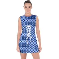 Lagoonis Lace Up Front Bodycon Dress by deformigo
