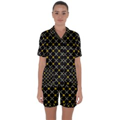 Jazz Satin Short Sleeve Pyjamas Set by deformigo