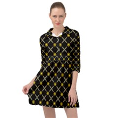 Jazz Mini Skater Shirt Dress by deformigo