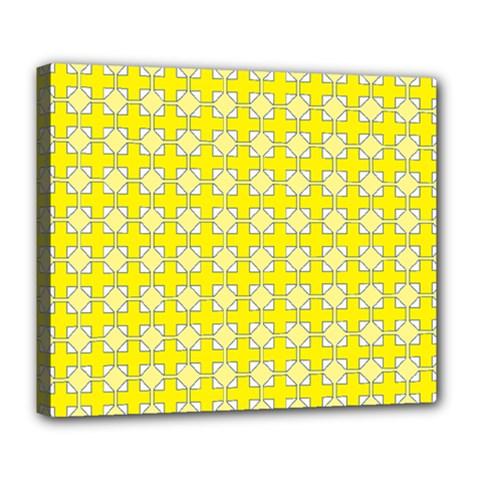 Goldenrod Deluxe Canvas 24  X 20  (stretched) by deformigo