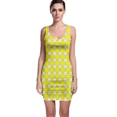 Goldenrod Bodycon Dress by deformigo
