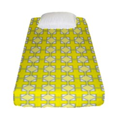 Goldenrod Fitted Sheet (single Size) by deformigo
