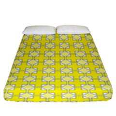 Goldenrod Fitted Sheet (king Size) by deformigo