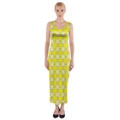 Goldenrod Fitted Maxi Dress by deformigo