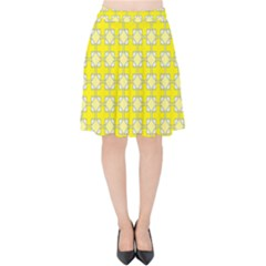 Goldenrod Velvet High Waist Skirt by deformigo
