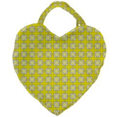 Goldenrod Giant Heart Shaped Tote by deformigo
