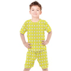 Goldenrod Kids  Tee And Shorts Set by deformigo