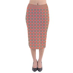 Tithonia Velvet Midi Pencil Skirt by deformigo