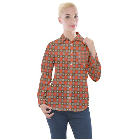 Tithonia Women s Long Sleeve Pocket Shirt by deformigo