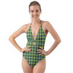 Wannaska Halter Cut-Out One Piece Swimsuit