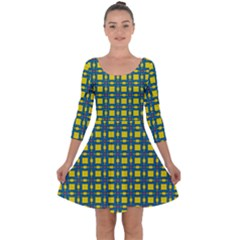 Wannaska Quarter Sleeve Skater Dress