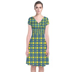 Wannaska Short Sleeve Front Wrap Dress