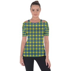 Wannaska Shoulder Cut Out Short Sleeve Top