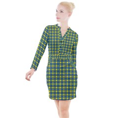 Wannaska Button Long Sleeve Dress