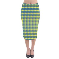 Wannaska Velvet Midi Pencil Skirt
