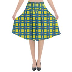Wannaska Flared Midi Skirt