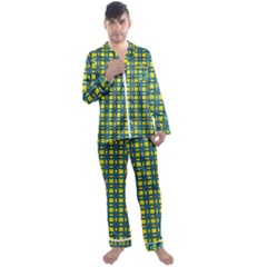 Wannaska Men s Satin Pajamas Long Pants Set