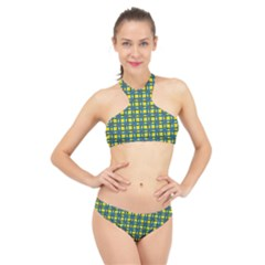 Wannaska High Neck Bikini Set
