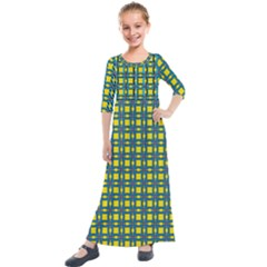 Wannaska Kids  Quarter Sleeve Maxi Dress