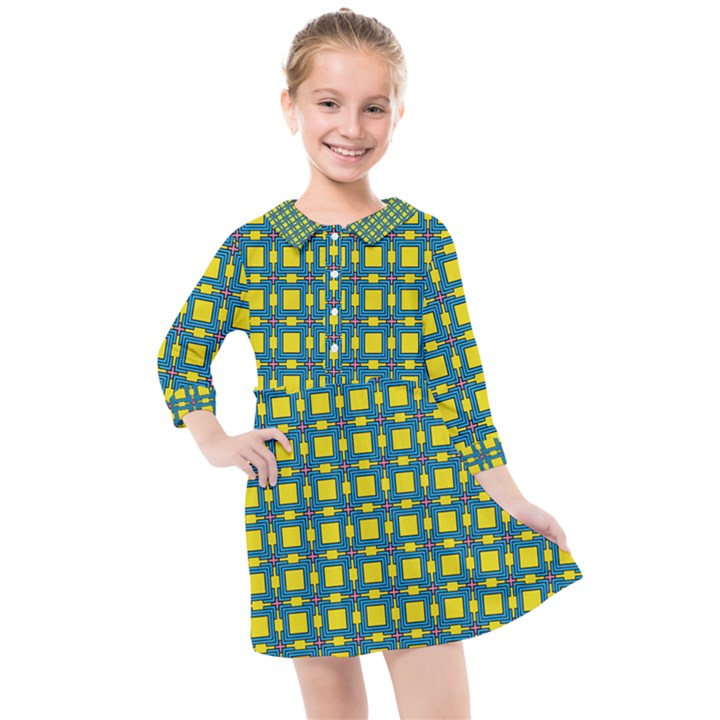 Wannaska Kids  Quarter Sleeve Shirt Dress