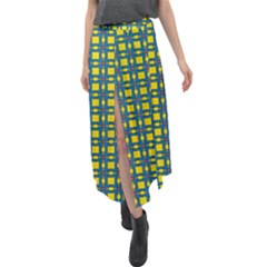 Wannaska Velour Split Maxi Skirt