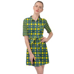 Wannaska Belted Shirt Dress