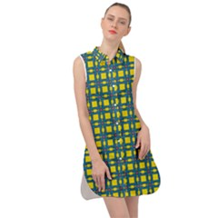 Wannaska Sleeveless Shirt Dress